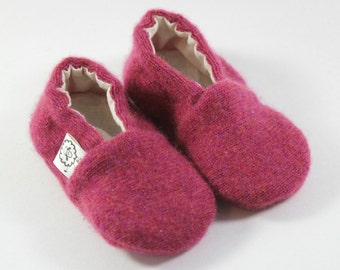 Pink Baby Shoes- Coming Home Outfit- Cashmere Baby Gift- Baby Shower Gift- Eco Baby Gift- Newborn Shoes