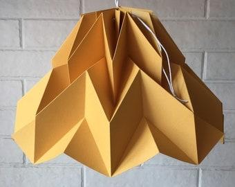 Fuji Lamp Moustard / origami paper lampshade