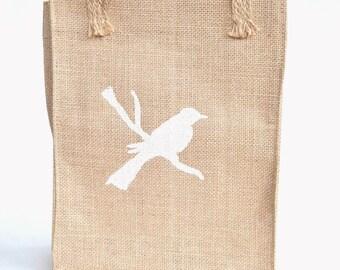 Burlap Book Bag, Burlap Tote Bag, Lunch Bag, Burlap Lunch Bag, Burlap Tote, Small Market Bag, Small Beach Tote