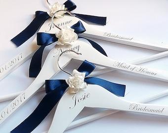 Personalised Coat Hangers, White Coat Hanger, Bridal Coat Hanger, Bridesmaid Coat Hanger, Dress Hangers, Wedding Coat Hangers