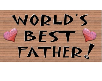 Father Wood Signs - Handmade wood sign Father, GS170, Primitve Handmade Father wood sign, Fathers day wood sign, Father handmade sign, Dad