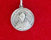 Antique French Religious Jesus Christ Medal. Religious Medals. Pendant