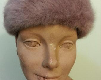 Light Purple Furry Kangol Hat