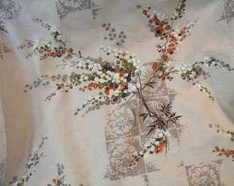 Fabric Floral Heavy Pre shrunk Vat Color Scotchguard Upholestry Drapery By Yard 48 Wide 7 Yard total