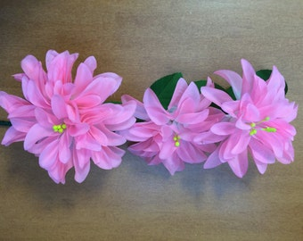 6 Single stems with flowers.Sprigs Artificial Flowers for Millinery.Hat Trim, Decorations, Centrepiece.