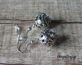 Earrings-Metal bead