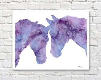Horse Art Print - Abstract Watercolor Painting - Wall Decor