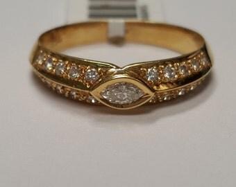 18-K Yellow Gold Diamomd Band 0.54CTW Diamonds