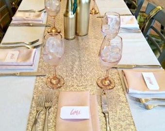 Champagne Gold Table runner, 10 Table Runners For Wedding, Table Runners For Wedding, Champagne Gold Runner, Champagne, Gold Table Runner,