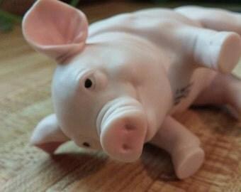 Enesco Kathy Wise 1990 Pigs Piggy Oinkers Farm Animal