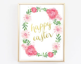 Happy Easter Poster Sign