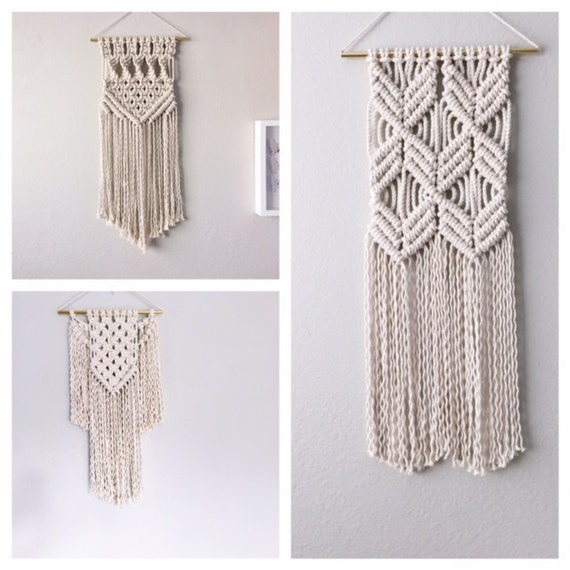 macrame wall hanging kit kit for macrame wall hanging modern by reformfibers on etsy 8531