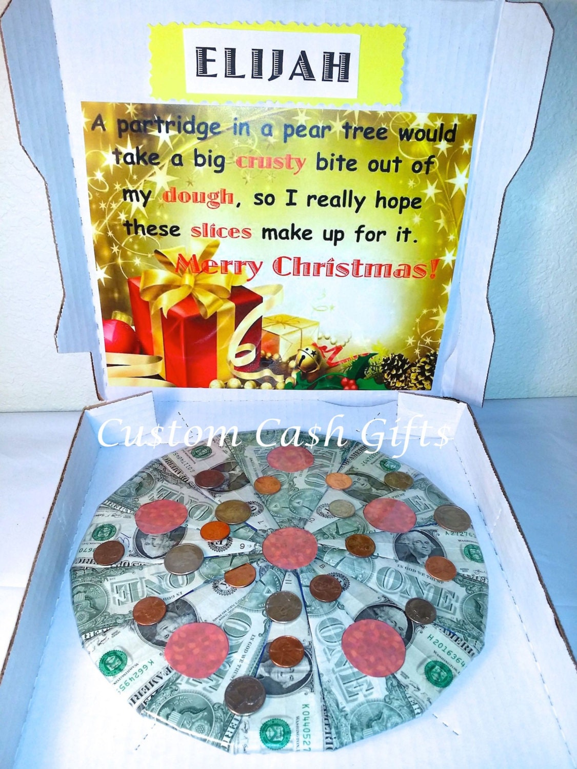 MONEY GIFT Made with Real Money. Merry Christmas