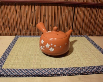 Japanese Pottery Kyusu Teapot Red Clay