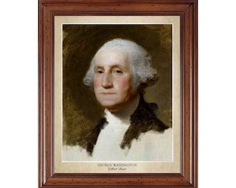 George Washington by Gilbert Stuart; 16x20 print