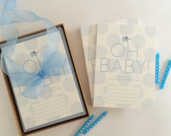 OH BABY! Boy shower invitations box set (170)