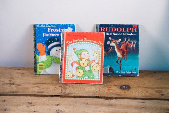 Un libro de oro  Vintage infantil Navidad libro por VintageFlicker