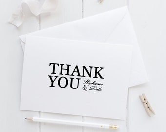 Modern Elegant Personalized Thank You Card Set