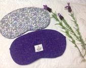 Harris Tweed Sleep /Eye Masks    Harris Tweed & Liberty Cotton Lavender scented