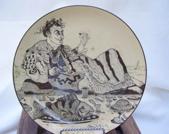 Vintage Simon Dittrich Artist Plate Porcelain Limited Series Silence Hotels