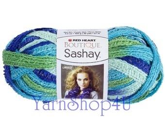 Sale! TWIST Boutique Sashay Yarn Red Heart Twist Sashay yarn, Ruffling, Ruffle yarn ribbon yarn scarf knit crochet Rumba Fluffy scarf yarn