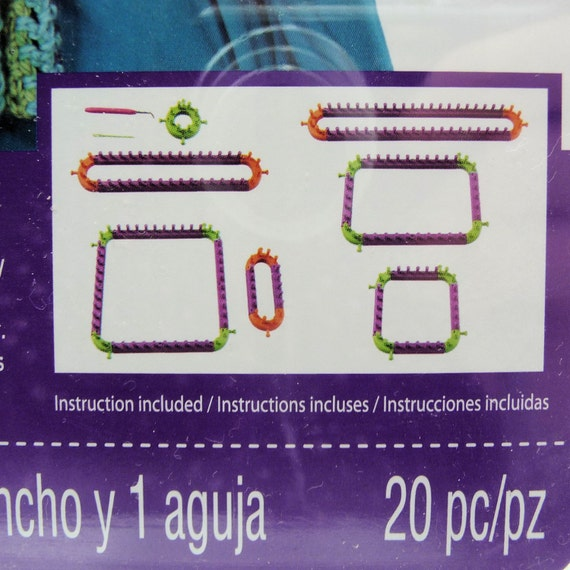 20pc Knitting Loom Kit, Loops & Threads  Knit Quick  Kit, Create over 7 l...