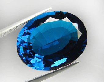 Big Size Awesome Oval Facet Cut London Blue Topaz Loose Gem