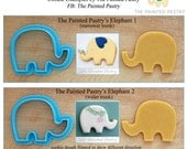 Elephants Cookie Cutters and Fondant Cutters by The Painted Pastry