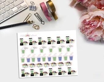 Green Juice Planner Stickers