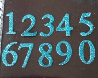 Blue Number Die Cuts