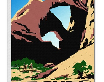 Arches National Park Print Travel Poster Vintage Art Canvas Decor Hanging Retro Wall Picture TR58