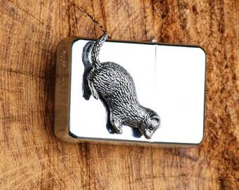 Ferret Petrol Windproof Lighter Engraved Gift