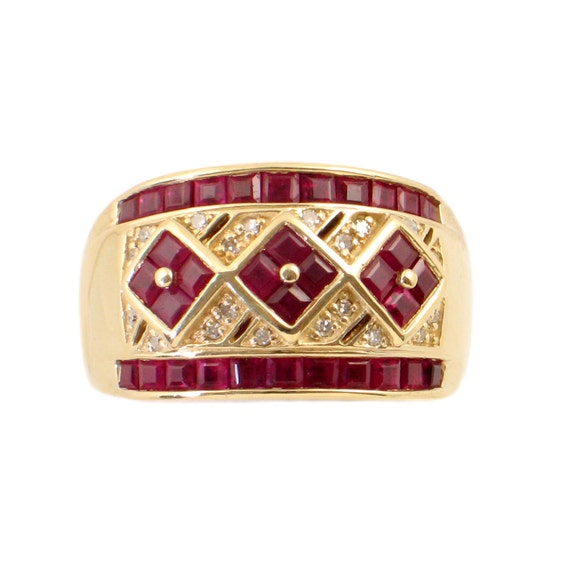 14k gold ruby ring with diamonds ruby and ring in