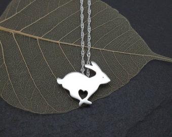 Sterling silver Rabbit pendant