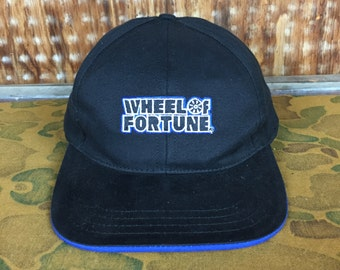 Vintage 90's Wheel Of Fortune Hat Snap Back Made in USA