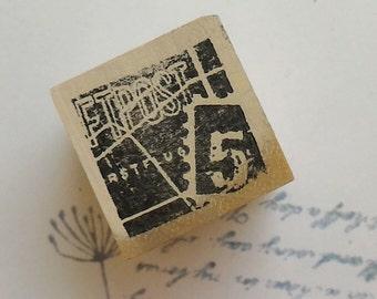 Postmark rubber stamp~12 ,Chamilgarden