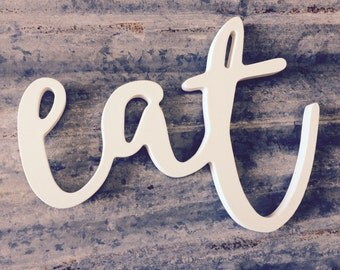 Christmas Gift | farmhouse kitchen decor | eat | large 22"