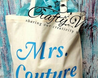 Custom bridal party canvas bags without zipper
