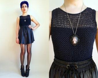90s Clothing Black Bodysuit Mesh Bodysuit Size Small Thong Bodysuit 90s Bodysuit Sweetheart Neckline Bodysuit Size Small 90s One Piece