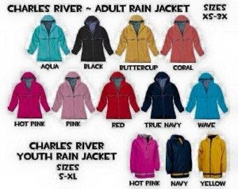 Youth Charles River rain jacket