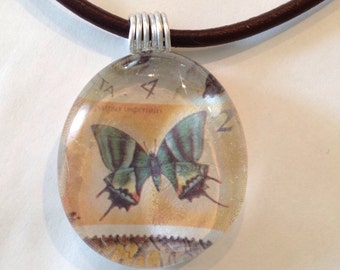 Butterfly Marble Pendant