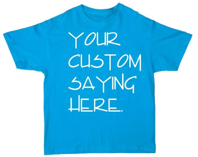 Mens CUSTOM and PERSONALIZED Short Sleeve Crew neck Shirt- Custom Shirts- T-Shirt- custom shirt printing- AQUA shirt