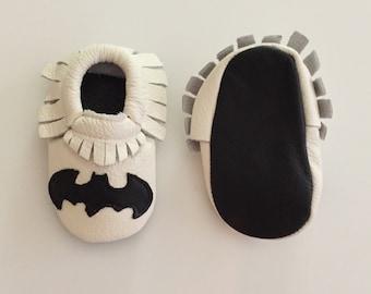 Batman Moccasins, Batman Shoes, Batman Party, Batman Gift, Superhero Moccasins, Superhero Gift, Superhero Shoes, Batman,