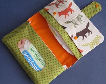 Diaper Clutch / Diaper Bag / Diaper Wipes Bag / wolves