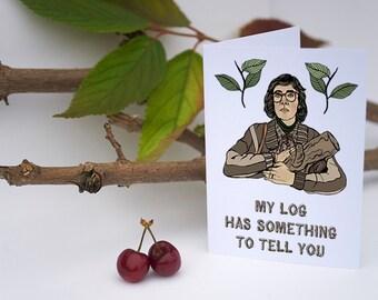 Twin Peaks Log Lady Greeting Card // twin peaks card, log lady card, david lynch, birthday card