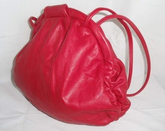 Red Leather Purse MacClay Leather Designs