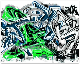 Graffiti Canvas with Your Name