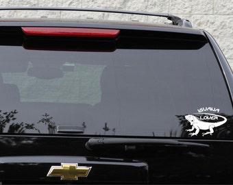 Iguana lover decal in 7 colors