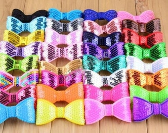 Wholesale Sequin Bows,You Pick Your Colors,Sequin Bows For Headbands and Clips