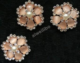 10 pcs Rhinestone Flatback Button, Embellishment,Hair Bow Centers